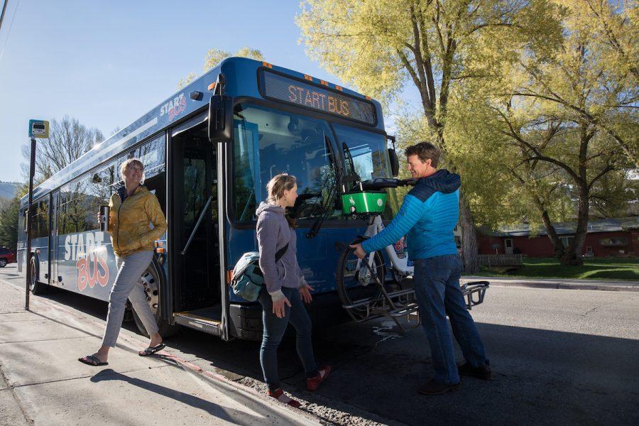 Photo By David Stubbs Town Of Jackson, Wyoming Start Bus